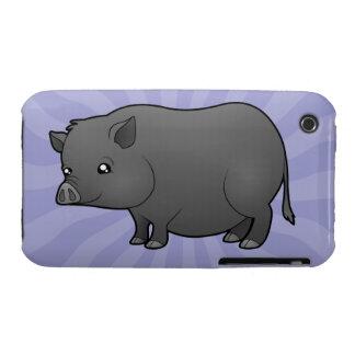 Cartoon Miniature Pig iPhone 3 Case-Mate Case