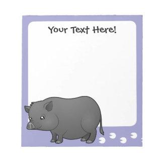 Cartoon Miniature Pig Notepad
