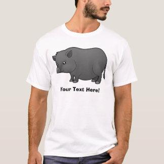 Cartoon Miniature Pig T-Shirt