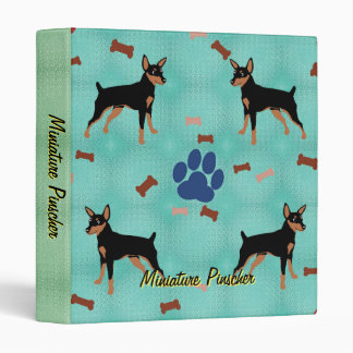 Cartoon Miniature Pinscher Binder
