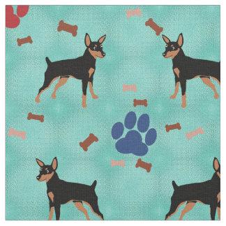 Cartoon Miniature Pinscher Fabric