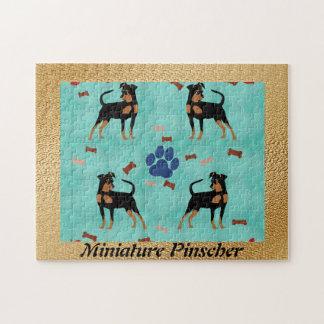 Cartoon Miniature Pinscher Jigsaw Puzzle