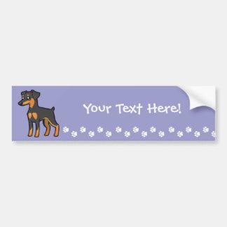 Cartoon Miniature Pinscher / Manchester Terrier Bumper Sticker