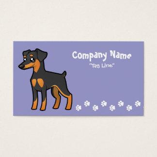 Cartoon Miniature Pinscher / Manchester Terrier Business Card
