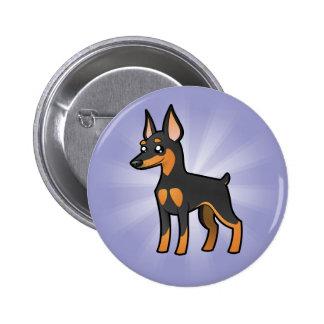 Cartoon Miniature Pinscher / Manchester Terrier Button