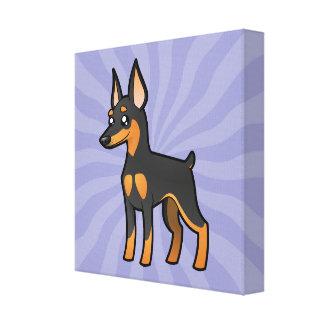 Cartoon Miniature Pinscher / Manchester Terrier Canvas Print