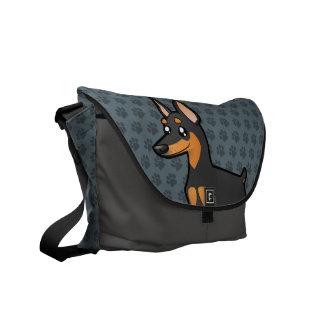 Cartoon Miniature Pinscher / Manchester Terrier Courier Bag