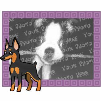 Cartoon Miniature Pinscher / Manchester Terrier Cutout