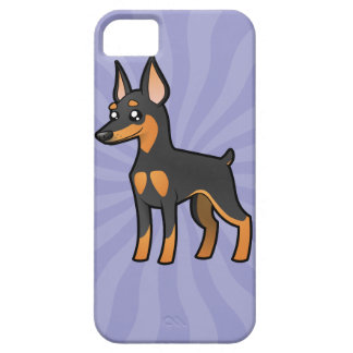 Cartoon Miniature Pinscher / Manchester Terrier iPhone SE/5/5s Case