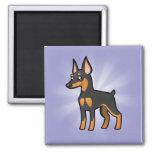 Cartoon Miniature Pinscher / Manchester Terrier Fridge Magnet