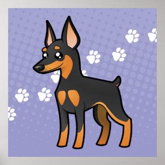 Cartoon Miniature Pinscher / Manchester Terrier Poster