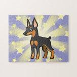 Cartoon Miniature Pinscher / Manchester Terrier Puzzles