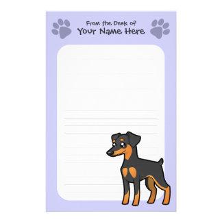 Cartoon Miniature Pinscher / Manchester Terrier Stationery