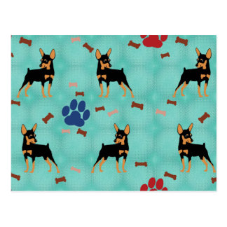 Cartoon Miniature Pinscher Postcard
