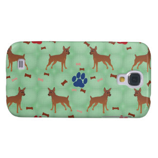 Cartoon Miniature Pinscher Samsung Galaxy S4 Cover