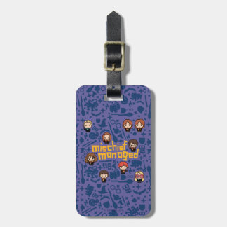 "Cartoon ""Mischief Managed"" Graphic Bag Tag"