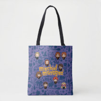 "Cartoon ""Mischief Managed"" Graphic Tote Bag"