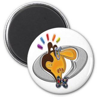 Cartoon Modern Man 2 Inch Round Magnet