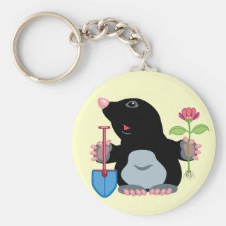 cartoon mole key chains