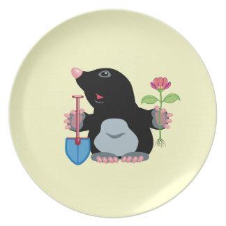 cartoon mole plate