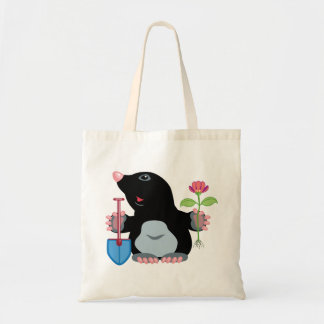 cartoon mole tote bag