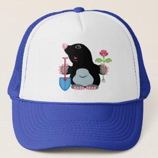 cartoon mole trucker hat