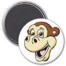 Cartoon Monkey 3 Inch Round Magnet