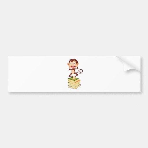 cartoon monkey bumper stickers