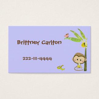 Cartoon Monkey calling card