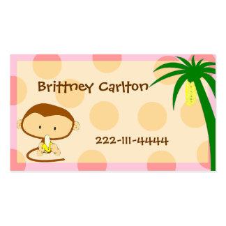 Cartoon Monkey calling card Business Card