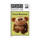 Cartoon Monkey Custom Postage Stamps