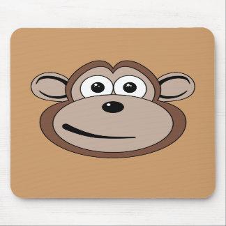 Cartoon Monkey Face Mousepad