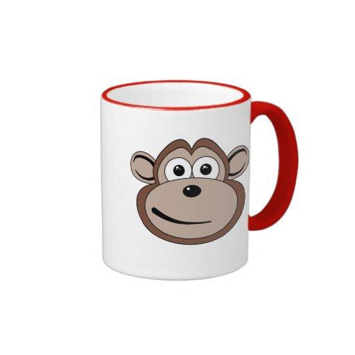Cartoon Monkey Face Mug