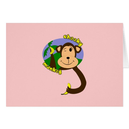 Cartoon Monkey Greeting Card