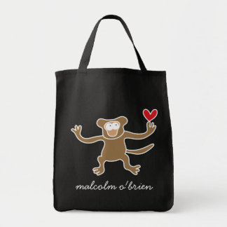 Cartoon Monkey Kid Cute Custom Gift Tote Bag
