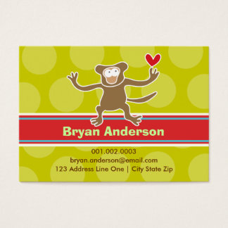 Cartoon Monkey Kid Photo Profile / Name Card