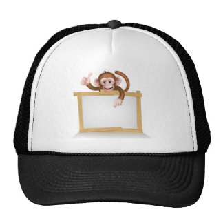 Cartoon Monkey Sign Trucker Hat