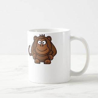 Cartoon Monkey - White Coffee Mug