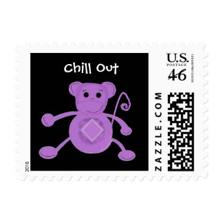 Cartoon Monkey with Cute Saying Stamp