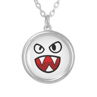 Cartoon Monster Eyes and Mouth with Sharp Teeth Pendant