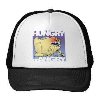cartoon, monster-hungry-BUT-angry Trucker Hat