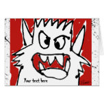 Cartoon Monster Personalized Greeting Greeting Card