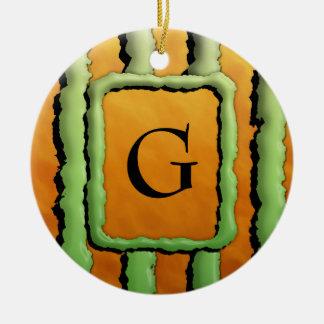 Cartoon Monster Stripes Christmas Ornaments