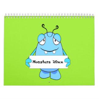 Cartoon Monsters 2017 Calendar