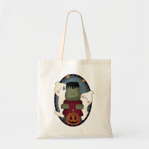 Cartoon Monsters Halloween Treat Bag
