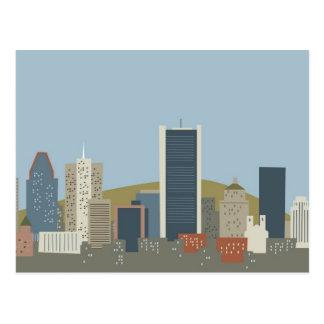 Cartoon Montreal Postcard