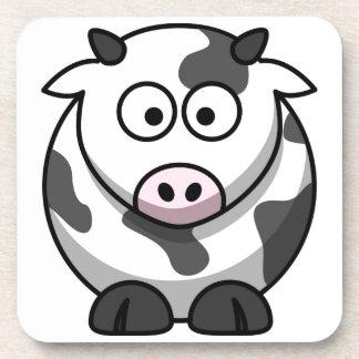 cartoon Moo Cow Beverage Coasters