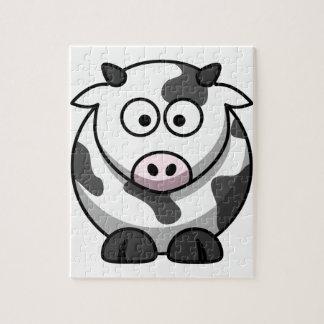 cartoon Moo Cow Jigsaw Puzzle