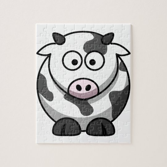 cartoon Moo Cow Jigsaw Puzzle