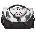 cartoon Moo Cow Laptop Bags